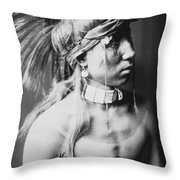 Apache Indian Circa 1905 Throw Pillow by Aged Pixel