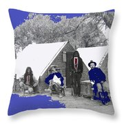 Apache Scouts Soldiers Living Quarters Location And Date Unknown  Throw Pillow