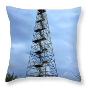 Apalachee Fire Tower In Morgan County Throw Pillow