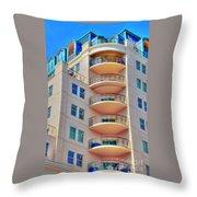 Apartment Building Throw Pillow