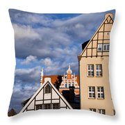 Apartment Houses In Gdansk Throw Pillow