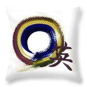 Aperature Of Courage - Zen Enso Throw Pillow
