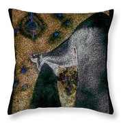 Aphrodite Holds Council With The Pleiades Throw Pillow by Nova Cynthia Barker