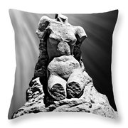 Aphrodite Of Milos Styled Sand Castle Throw Pillow