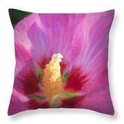Aphrodite Rose Of Sharon Throw Pillow