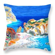 Aphrodite's Birth Place Throw Pillow by Augusta Stylianou