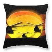 Apocalypse Now Throw Pillow by Mo T