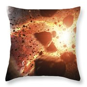 Apocalyptic Space Scene With An Throw Pillow
