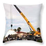 Apollo Capsule Going In For Repairs Throw Pillow