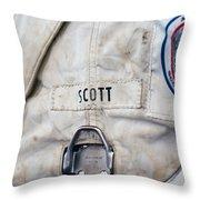 Apollo Lunar Suit Throw Pillow