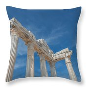 Apollo Temple Throw Pillow