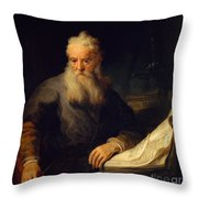 Apostle Paul Throw Pillow by Rembrandt