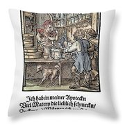 Apothecary, 1568 Throw Pillow