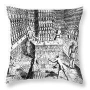 Apothecary Shop, 1688 Throw Pillow