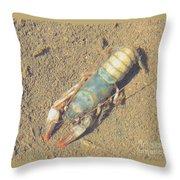 Appalachian Blue Crayfish Throw Pillow