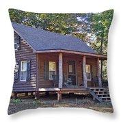 Appalachian Cabin Throw Pillow