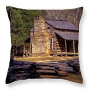 Appalachian Homestead Throw Pillow