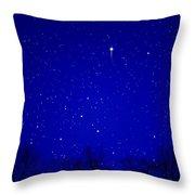 Appalachian Mountain Starry Night Throw Pillow by Thomas R Fletcher
