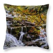 Appalachian Mountain Waterfall Throw Pillow