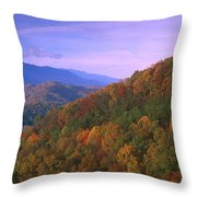 Appalachian Mountains Ablaze  Throw Pillow
