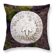 Appalachian Trail Historic Marker Throw Pillow