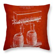 Apparatus For Beer Patent From 1900 - Red Throw Pillow
