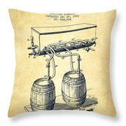 Apparatus For Beer Patent From 1900 - Vintage Throw Pillow