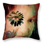 Apparition Of A Disintegrating Purpose Throw Pillow