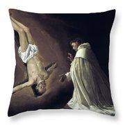 Apparition Of Apostle Saint Peter To Saint Peter Nolasco Throw Pillow