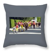 Appenzell Parade Of Cows Throw Pillow