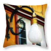 Appenzell's Swiss Lamp Store Throw Pillow