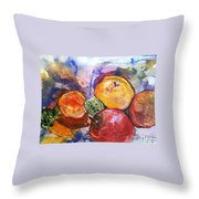 Appetite For Color Throw Pillow by Sherry Harradence