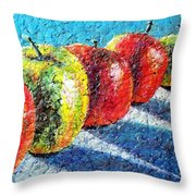 Apple A Day Throw Pillow