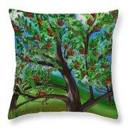 Apple Acres Throw Pillow