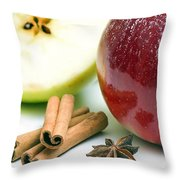 Apple And Cinnamon Throw Pillow