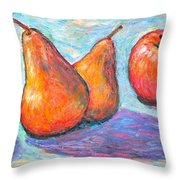 Apple And Pear Twirl Throw Pillow