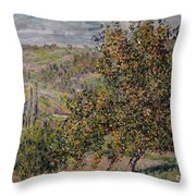 Apple Blossom Throw Pillow by Claude Monet