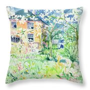 Apple Blossom Farm Throw Pillow