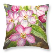 Apple Blossoms II Throw Pillow