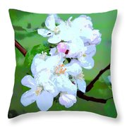 Apple Blossoms In The Spring - Painting Like Throw Pillow