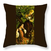 Apple Blossoms Spring Throw Pillow