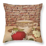 Apple Cider Throw Pillow