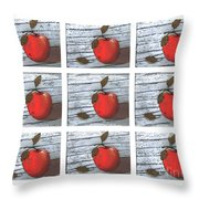 Apple Collage Throw Pillow