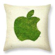 Apple Grass Logo Throw Pillow