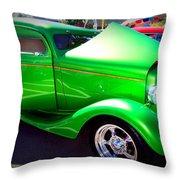 Apple Green Jewel Throw Pillow