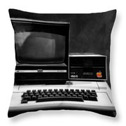 Apple II Personal Computer 1977 Throw Pillow by Bill Cannon
