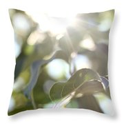 Apple Leaves Throw Pillow