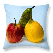 Apple - Lemon - Pear Throw Pillow