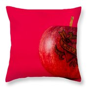 Apple Love From Tattoo Series Throw Pillow