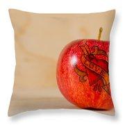 Apple Love Throw Pillow